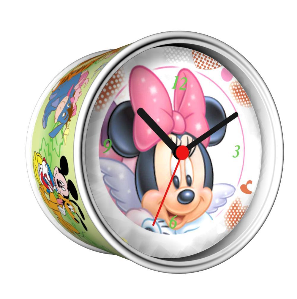 2014 nova DIY Mickey projeto magnéticos relógios de parede baratos secretária relógios baratos barato relógios de de função em grátis frete(China (Mainland))