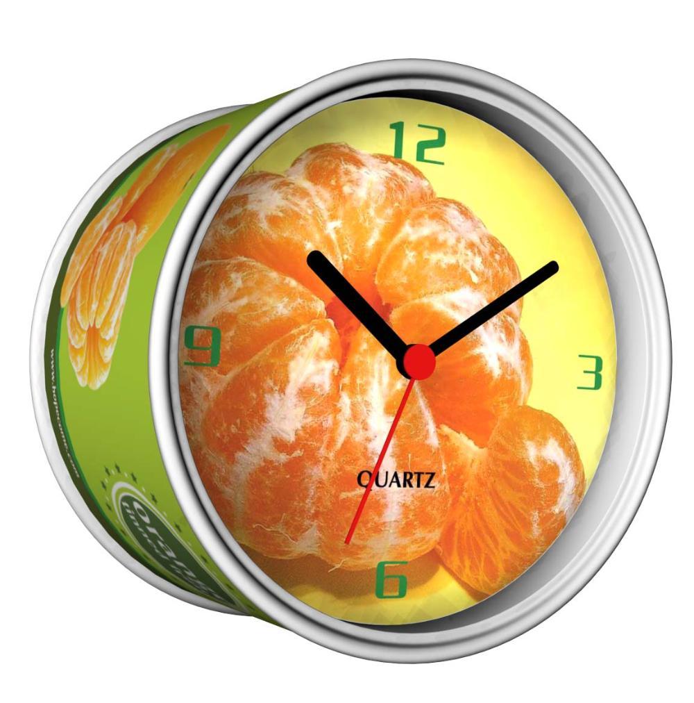2014 Nova DIY Laranja pode projetar magnéticos relógios de parede , relógios de mesa baratos baratos , relógios de mesa Função baratos em frete grátis(China (Mainland))
