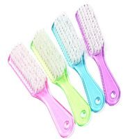025 cleaning brush multifunctional crystal transparent laundry brush floor brush shoe brush