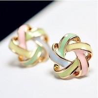 Lovely spiral flowers, earrings jewelry
