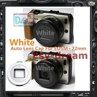 White Self-retaining Auto Open Close Lens Cap Z-Cap X-Cap For Canon EOSM II EF-M 22mm F2 F/2.0 STM PA254