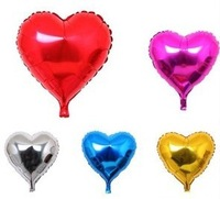 10pcs 5inch 12cm Heart Shape Foil Decal Glossy Balloons Party Wedding Decorative Toy Ballons Free Shipping