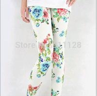 Korean version of Ms. Peony pattern leggings  security pantyhose thin section  wholesale leggings G1