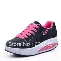 Fashion Woman Comfortable soft bottom shoes/tone skylar clog/height Increasing Shoes  Female leisure sports shoes