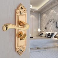 24 k gold plating PVD gold   LOCK Gold Door lock handle door levers out door furniture door handle Free Shipping pb13