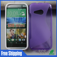 500pcs/lot For HTC One M8 mini tpu phone case S design free shiping,Wholesale mixed models compatible