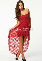 FREE SHIPPING!(10pieces)100% Brand New Women's Sexy lingerie/2014 summer women dress Sapphire Bandeau Lace Evening Dress LC6238