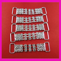 25pcs/lot  3 Line Rhinestone bikini connector,rhinstone buckle ,shoe buckles