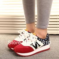 New 2014 Kilen multicolour color block decoration casual shoes/sport shoes/running shoes for Woman