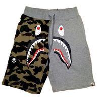 Free shipping high quality bape shark pants shark men's shorts