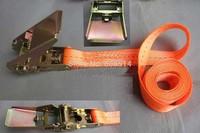 Free shipping 2pcs/lot 500kg (0.5T) x 2M ratchet tie down ratchet strap cargo lashing cargo belt