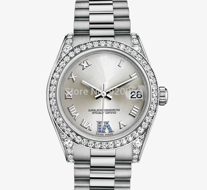 Top quality women new arrivel Automatic Mechanical Wrist Watch 31 mm gift 178159 original band(China (Mainland))