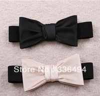 2013 ladies princess sweet all-match satin bow belt elastic waist decoration Ladies princess sweet satin bow belt
