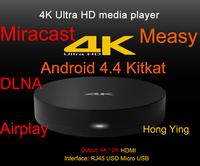 New Measy 4K XBMC Media Player Amlogic S802 Quad Core 2GHz Android Box 2G/8G Mali450 GPU 4K HDMI Bluetooth WiFi B4A Smart TV Box