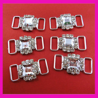 200pcs/lot Square acrylic rhinestone connector for bikini and sew on swimwear ,rhinestone buckles. good quality
