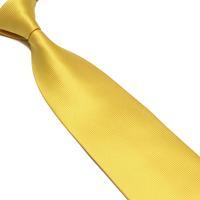 10cm secret pocket solid color tie men's yellow tie yellow mens ties