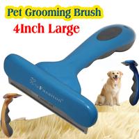 "1pcs Yellow/Blue/orange Fasaiton Large 4"" deShedding Tool Brush Pet brush for Dog Grooming"