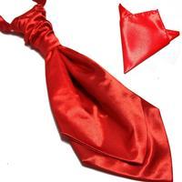 For neck tie set ascot festive gown collar belt handkerchief set male formal dress set banquet wedding
