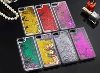 sandglass Quicksand bling Glitter Hard Case Cover For Iphone 5 5S 5G Transparent Oil Funny Case For Iphone 4 4S liquid Cover