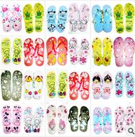 Hot-selling 2014 cartoon flip flops beach slippers women's slippers cute slippers summer fashion