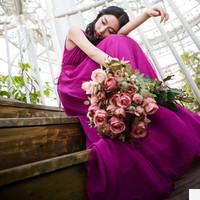 2014 summer Long Chiffon Dress new women fashion models in Europe and America logo long V-neck vest dress skirt big skirt dress