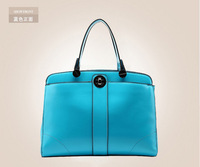 Fashion women leather handbags 2014 zipper new design famous brand 100% real genuine leather solid handbags bags