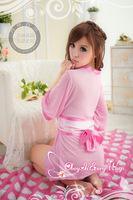 Free shipping new 2014 Uniform Temptation kimono Series - Pink Tousha sexy lingerie factory direct 2006