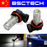 2X H11 LED High Power 21SMD White Bulb Daytime Running Light Fog DRL headlight Lamp Day Light Exterior Light