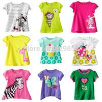 girl cartoon cotton T-shirt 2014