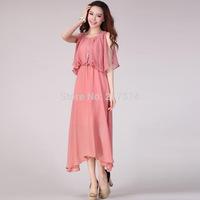 2014 summer Dress new Bohemian foreign trade explosion models female models fitting length sleeveless chiffon dress beach Son