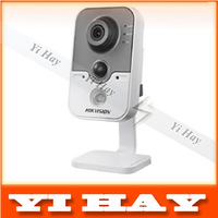 New Hikvision DS-2CD2412F-IW 1.3MP IR Cube Network Camera DWDR & 3D DNR & BLC IP camera cube real time wifi camera