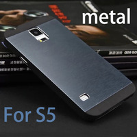 Aluminum wire drawing    newfor samsung galaxy s5 case PC+Metal Dual Protect Cell Phone cover cases galaxy s5