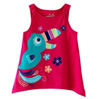 girl cartoon cotton T-shirt