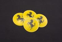 Wholesale New A Set Of 4pcs 65mm CAR Auto Tyre Wheel Center Hub Cap Hubcap Stickers Emblems Badge Decal Fit horse Ferari