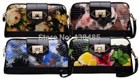 Fashion Flower Print Women Clutch Bags Handbags Women Famous Brand Ladies Clutch Purses Luxury Chain Shoulder Bag Messenger Bag
