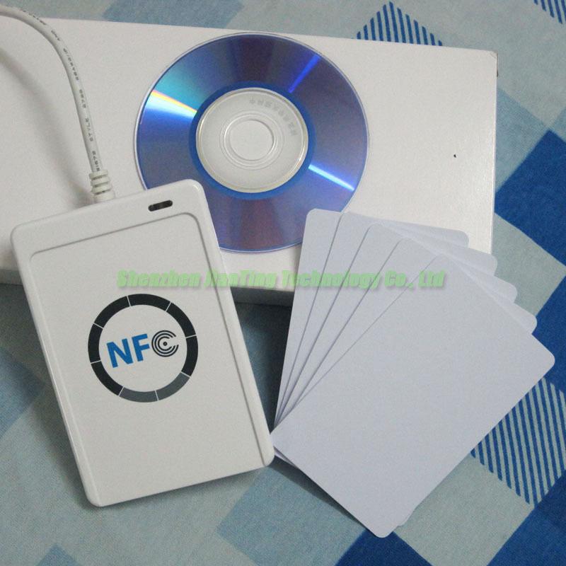 Access Control ACS ACR122U USB NFC Tags RFID Contactless Smart Card Reader & Writer + 1 SDK CD + 5 Pcs M1 S50 Cards(China (Mainland))
