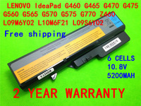 5200mAH Laptop Battery For Lenovo IdeaPad G460 G560 V360 V370 V470 B470 G460A G560 Z460 Z465 Z560 Z565 Z570 LO9S6Y02 LO9L6Y02