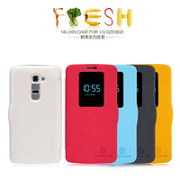 Original NILLKIN Fresh side flip Leather case For LG Optimus G2 D802 and retailed package by free shipping