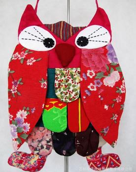 Новое прибытие 2014 Супер Национальный Особенности Лоскутная Домашний текстиль сова Рюкзак Многоцветный ранцы для детей SHD- 186
