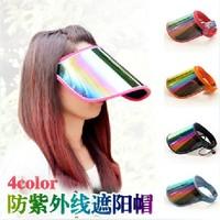 2014 Hot Sale UV Visors Sun hat Outdoor Sunshade cap Summer cycling caps Men and women adjustable Empty top hat 5 Colors Sale