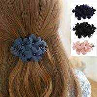 Korean Fashion Hair Styling Hair Accessories Flower Hairgrips Banana Hair Clip Barrettes Hair Fascinators Acessorios Atacado