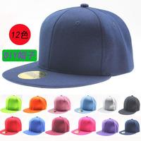 NEW RETRO Plain Fitted Cap New Baseball Hat Solid Flat Bill Visor Blank Color