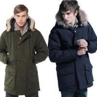 2013 New Arrival Woolrich brand men's Arctic winter down jacket male fox fur collar warm coat waterproof parkas