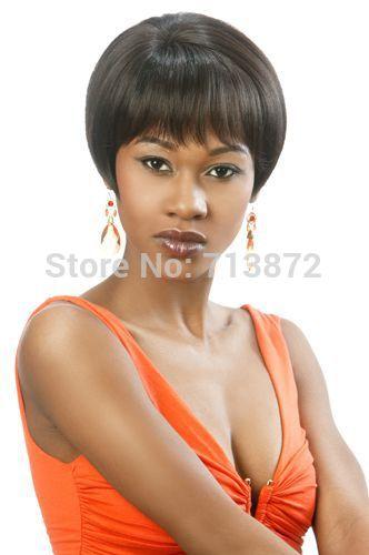 wedge back wig material blended hair item type wig item type half wig