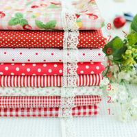 50CMx50CM 8pcs Designs mixed 100% Cotton red Fabric Fat Quaters Tilda cloth Quilting scrapbooking Patchwork Fabric home textile