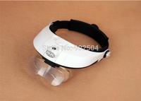 2pcs/lot Illuminated Helmet Magnifier Headband Ergonomic Design Surgical Loupe with 2 LED Lights MG81001-G