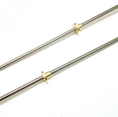 RepRap 3D Printer THSL 300 8D Lead Screw Dia 8MM Thread 8mm Length 300mm with Copper