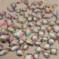 200PCS Sew On AB Clear Mixed shapes Marquis ACRYL DIAMANTE Rhinestone Crystal Gems Free shipping RH-14