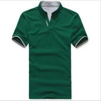 Fashion 2014 NEW Summer Shirts Men's Short Sleeve Tees Tops Casual V-neck Cotton T Shirts Free Shipping Plus Size M-XXL e851180