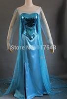Frozen Elsa Costume Elsa Dress in Movie Frozen Cosplay Costume Free Shipping Elsa Dress Frozen Elsa Dress Frozen Birthday Dress